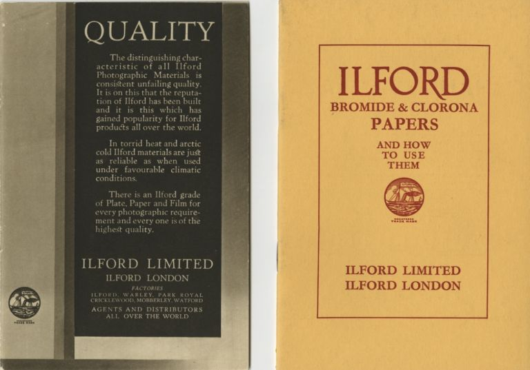 ILFORD BROMIDE & CLORONA PAPERS AND HOW TO USE THEM.; [cover title]. Ilford Limited.