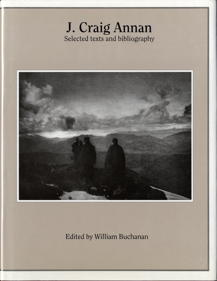 J. CRAIG ANNAN: SELECTED TEXTS AND BIBLIOGRAPHY. William Buchanan.