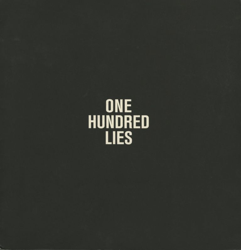 ONE HUNDRED LIES. Mac Adams, Patrick Bouvet.