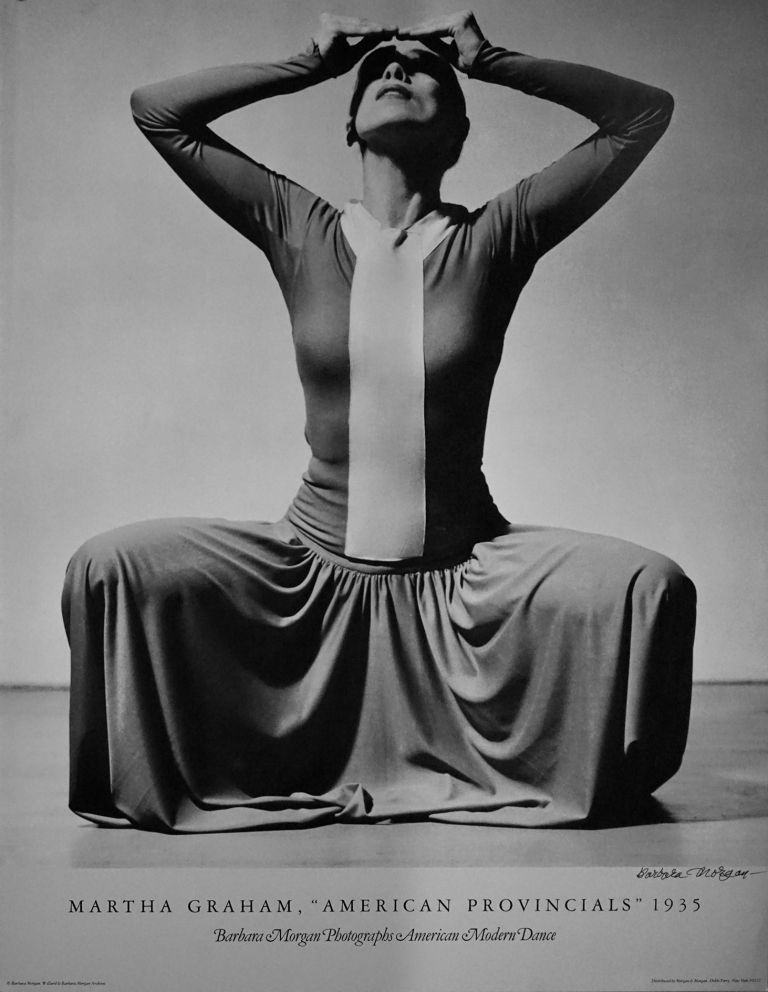 "MARTHA GRAHAM, ""AMERICAN PROVINCIALS"" 1935.; Barbara Morgan Photographs American Modern Dance. Barbara Morgan."