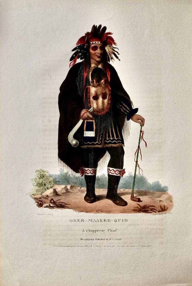 OKEE-MAKEE-QUID.; A CHIPPEWAY CHIEF. C. B. King, painter, Charles, Bird.