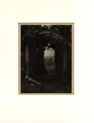ENTRANCE TO THE GARDEN, 1908. Clarence H. White.