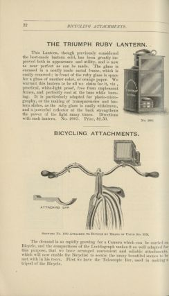 ILLUSTRATED CATALOGUE AND PRICE LIST OF PHOTOGRAPHIC APPARATUS AND SUPPLIES