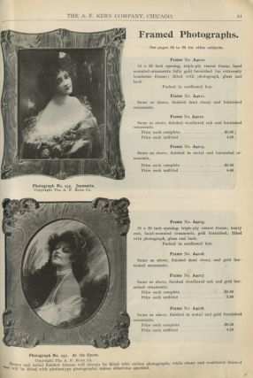 THE A.F. KERN COMPANY MANUFACTURERS: SPRING AND FALL SEASON 1904...; CATALOGUE NO. 15, FIFTEENTH YEAR.