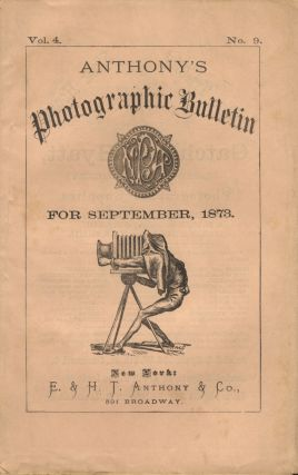 ANTHONY'S PHOTOGRAPHIC BULLETIN. Charles F. Chandler.