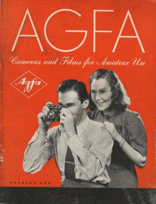 AGFA PHOTOGRAPHIC MATERIALS FOR AMATEUR USE: CAMERAS, AND ACCESSORIES, FILMS, PAPERS AND...