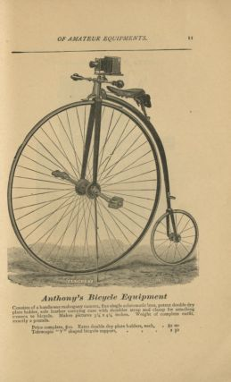 ANTHONY'S ILLUSTRATED CATALOGUE OF AMATEUR PHOTOGRAPHIC EQUIPMENT.; [cover title].