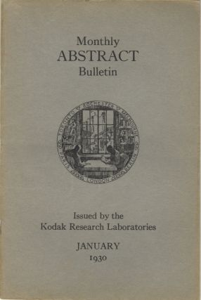 Monthly abstract bulletin from the Kodak Research Laboratories