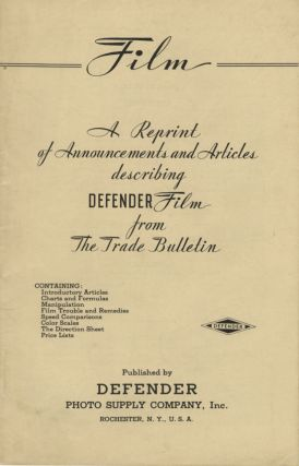FILM: A REPRINT OF ANNOUNCEMENTS AND ARTICLES DESCRIBING DEFENDER FILM FROM THE TRADE BULLETIN.;...