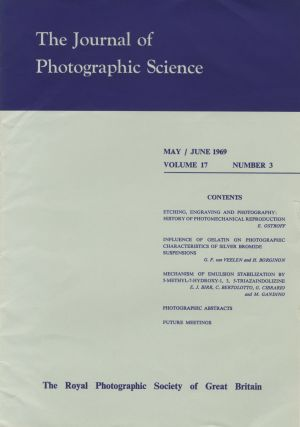 THE JOURNAL OF PHOTOGRAPHIC SCIENCE