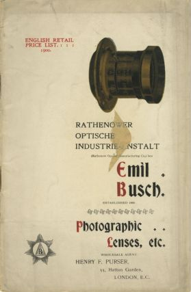 ENGLISH RETAIL PRICE LIST. RATHENOWER OPTISCHE INDUSTRIE-ANSTALT...; EMIL BUSCH, ESTABLISHED...