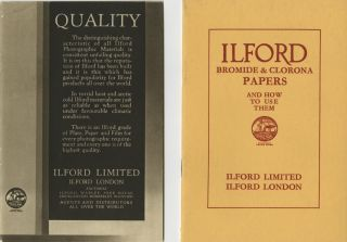 ILFORD BROMIDE & CLORONA PAPERS AND HOW TO USE THEM.; [cover title]. Ilford Limited