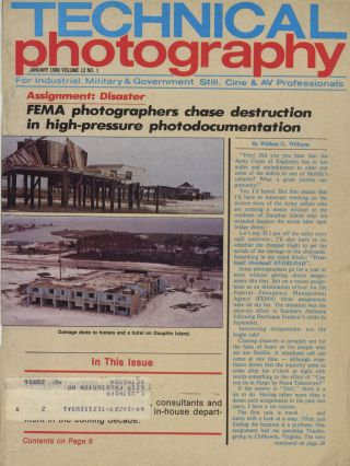 TECHNICAL PHOTOGRAPHY: THE PUBLICATION FOR INDUSTRIAL, MILITARY, AND GOVERNMENT STILL, CINE AND AV PROFESSIONALS