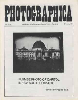 NEWS; PHOTOGRAPHICA; PHOTOGRAPHICA/JOURNAL; PHOTOGRAPHICA; IN FOCUS