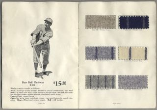 WILSON READY-TO-WEAR (and) MADE-TO-MEASURE BASEBALL UNIFORMS, SEASON 1931.