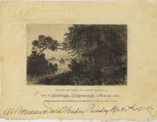 YOURSELF AND LADIES ARE CORDIALLY INVITED TO A VIEW OF ETCHINGS, ENGRAVINGS, PHOTOS, &C....