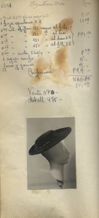 MILLINERY SAMPLE BOOK