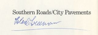 SOUTHERN ROADS/CITY PAVEMENTS.; Introduction by Cornell Capa.
