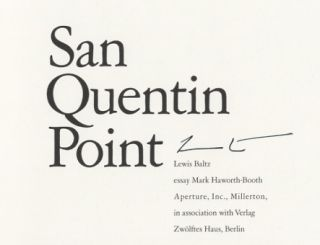 SAN QUENTIN POINT.; Essay by Mark Haworth-Booth.