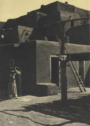 TAOS PUEBLO.; Photographs by Ansel Adams. Woodcut decorations by Valenti Angelo.