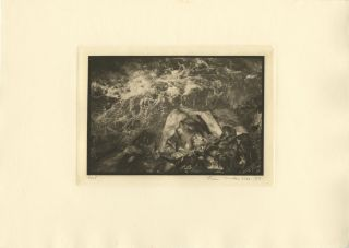 UNTITLED: [DRESS, ROCKS AND CRASHING WATER]. Linn Underhill