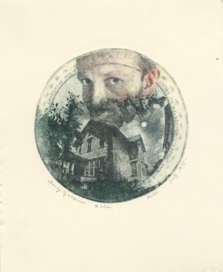SELF-PORTRAIT.; [Notice of change of address