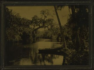 FLORIDA PATH WITH PALM TREES AND WILLOWS [Descriptive title]. R. H. LeSesne, Richard, Habersham