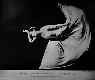 "MARTHA GRAHAM, ""LETTER TO THE WORLD"" 1940.; Barbara Morgan Photographs American Modern Dance...."
