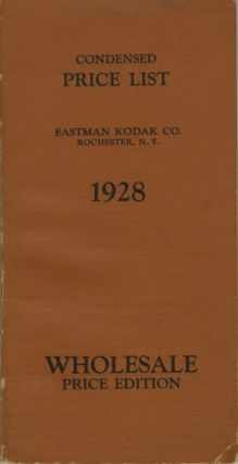 CONDENSED PRICE LIST OF PHOTOGRAPHIC MATERIALS AND APPARATUS.; CORRECTED TO MARCH 15, 1928
