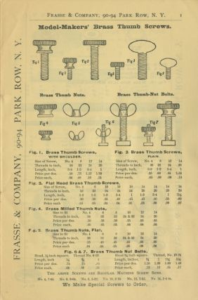 PRICE LIST OF PHOTOGRAPHIC PLUNDER. FRASSE & COMPANY, 90-94 PARK ROW, NEW YORK.